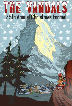Image of Vandals 25th Annual Christmas Formal T Shirt