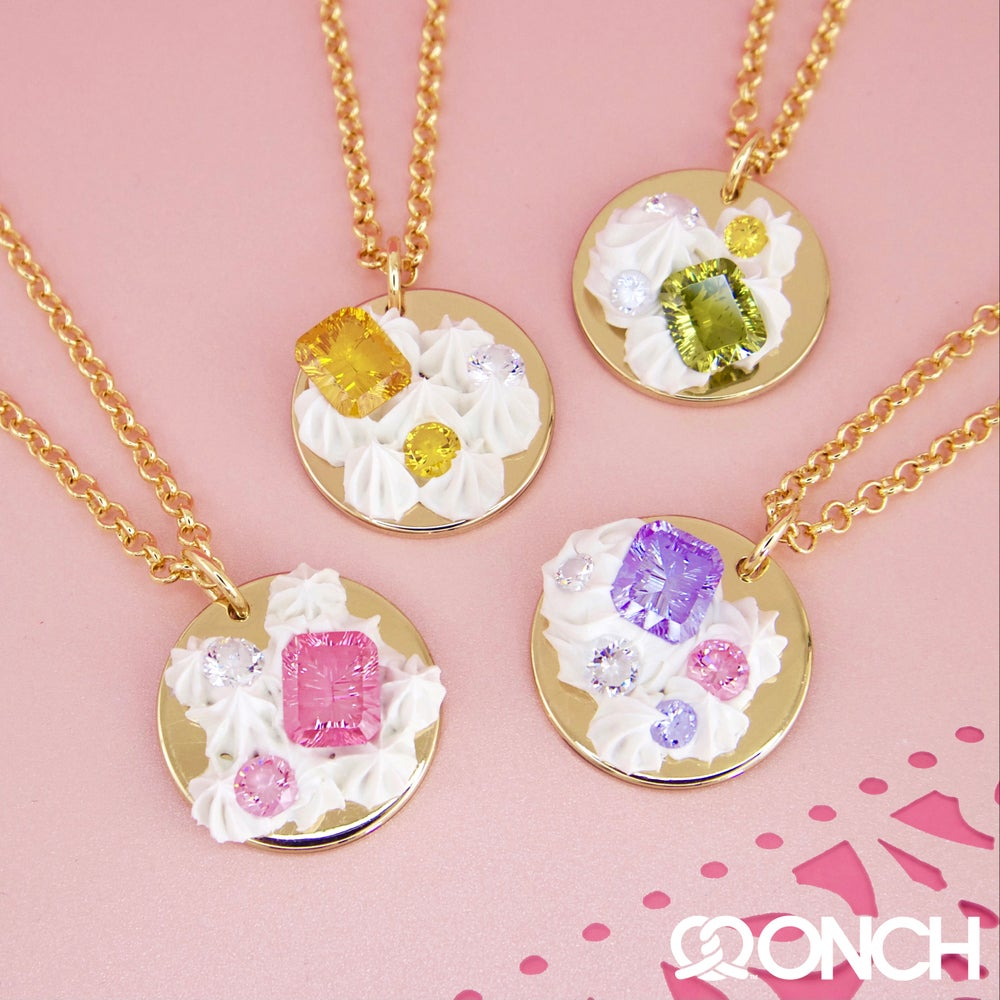 "Image of ""Let them eat cake and sparkly stuff"" (Necklace)"