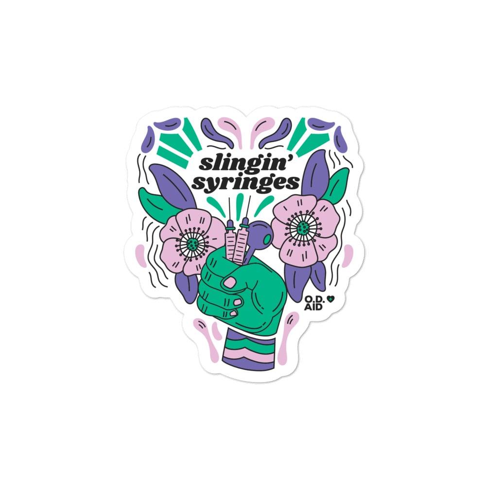Slingin' Syringes Stickers
