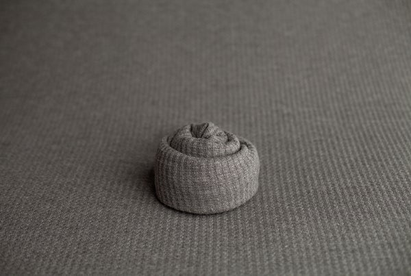 Image of Plush Waffle Knit - warm gray