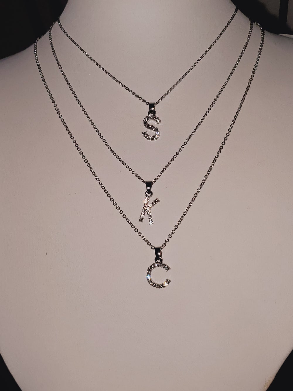 Image of Diamond Initial Necklace