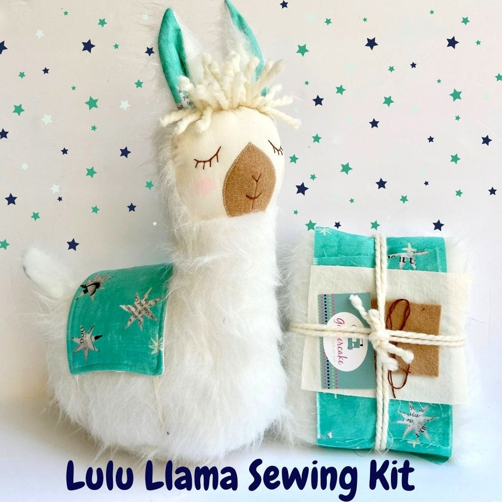 Image of NEW!  Lulu Llama Sewing Kit and PDF Pattern