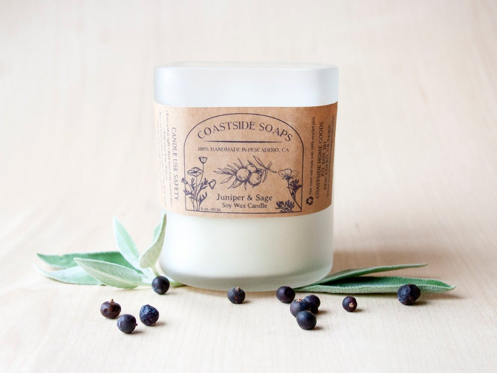 Image of ReCycled Glass - Juniper Sage Soy Wax Candle