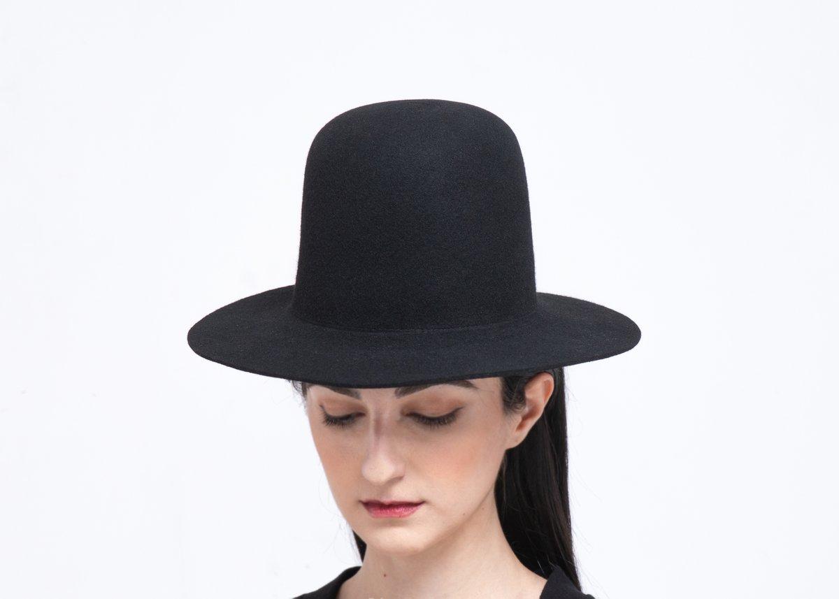 Image of Wool Brim Fedora Hat - 016