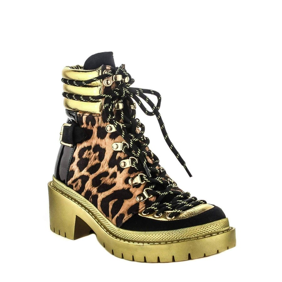 Image of SUMMIT HIGH TOP CHUNKY HEEL PLATFORM ABOVE ANKLE BOOTS