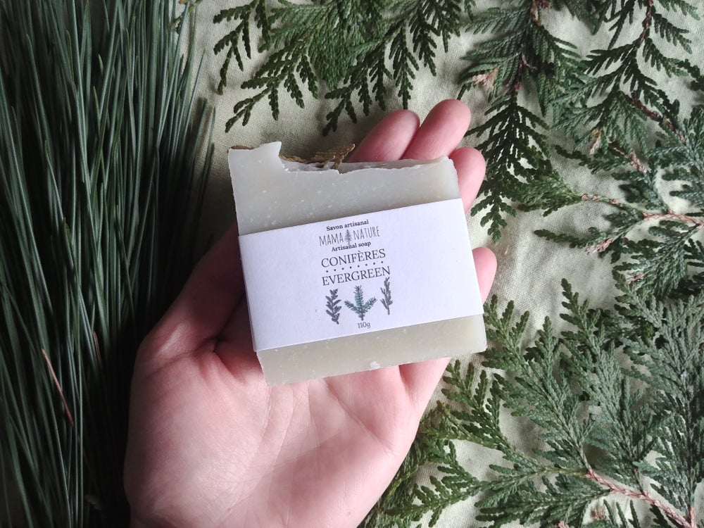 Image of Savon artisanal aux conifères - Evergreen artisanal soap