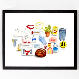 Pandemic Objects by Alyson Thomas of Drywell Art. Available at shop.drywellart.com
