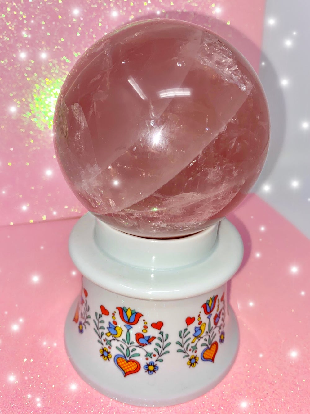 Image of Dreamy Star Rose Quartz Sphere - LARGE (WAS $333!)