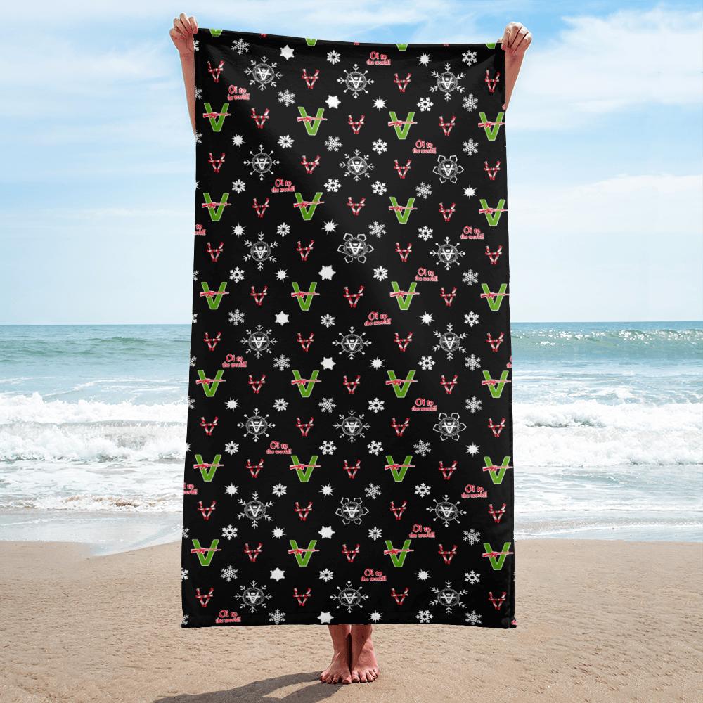 Image of  Vandals Christmas Beach Towel from Sergio Giorgini