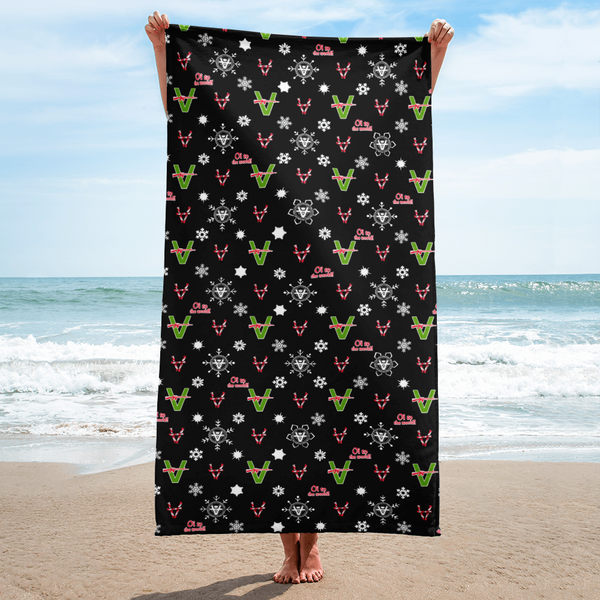 Image of  Vandals Christmas Beach Towel from Sergio Giorgini