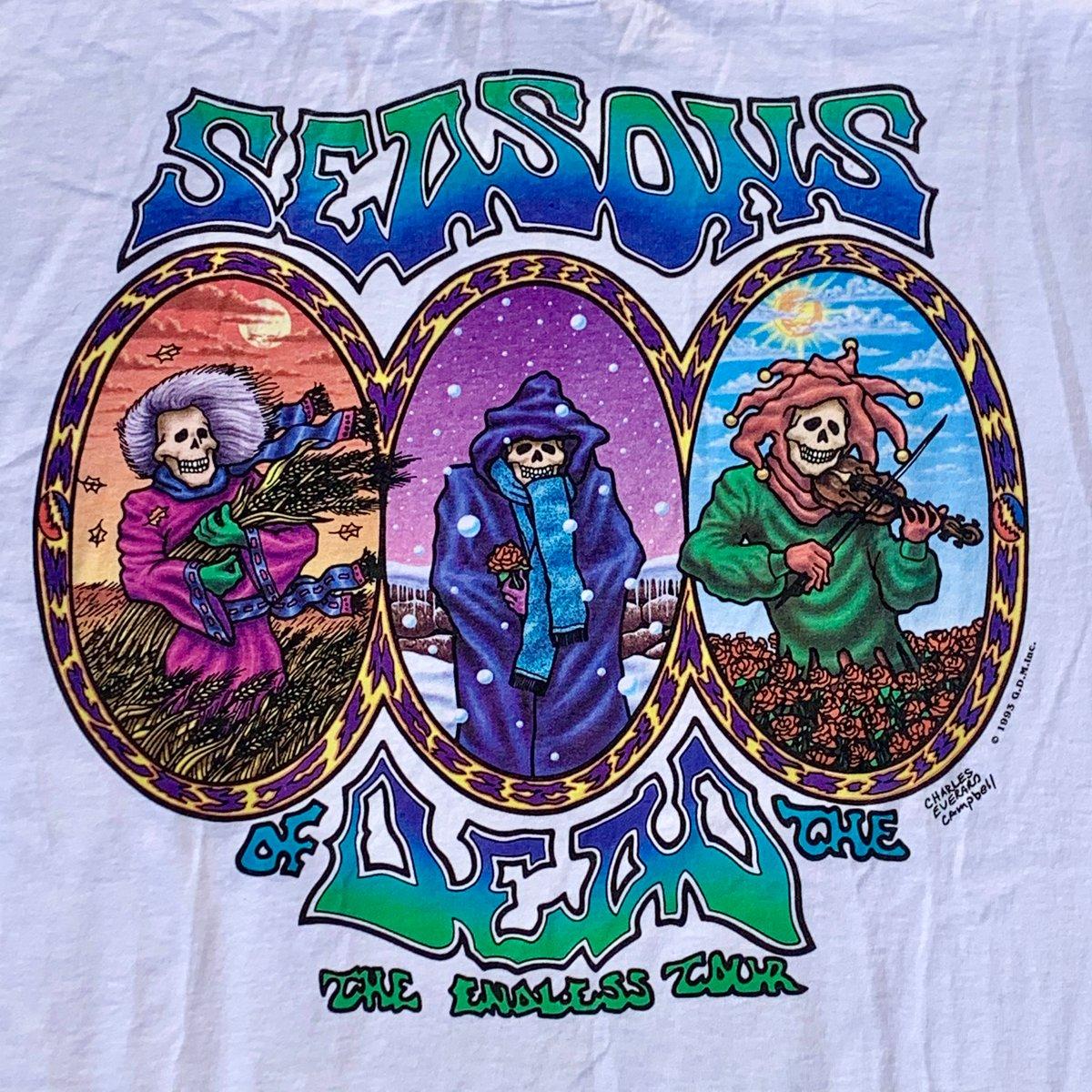 "Original Vintage Grateful Dead 90's ""Seasons of The Dead"" Tee! - X-Large"
