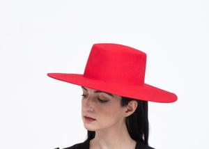 Image of Wool Brim Fedora Hat - 013