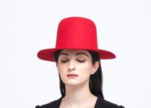 Image of Wool Brim Fedora Hat - 015