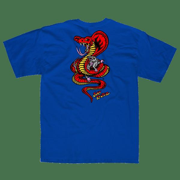 """Image of Jake Reuter """"Snake and Rat"""" Blue"""