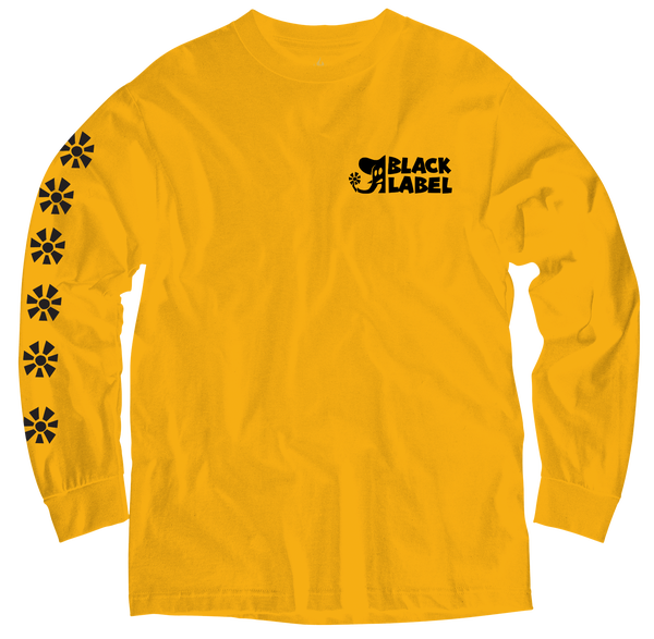 Image of FLOWER POWER LONG SLEEVE TEE YELLOW/ MULTI COLOR