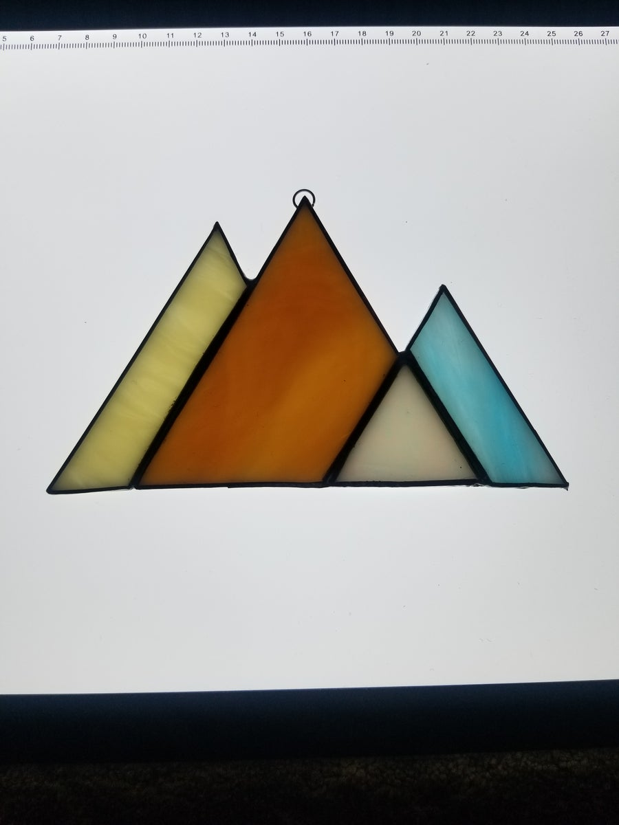 Image of Mountain Scene-stained glass