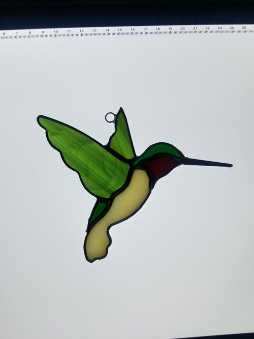 Image of Hummingbird-stained glass