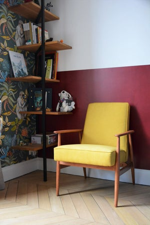Image of Fauteuils FOX jaune chiné