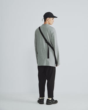 Image of TRAN - 側領開釦針織衫 (灰)