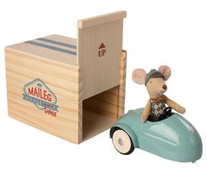 Image of Ratón en coche con garaje: Azul o Amarillo
