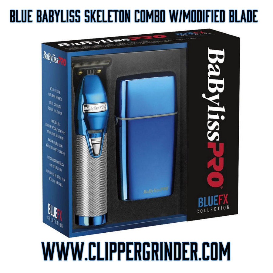 Image of (3 Week Delivery/High Order Volume) Blue Babyliss Skeleton Trimmer W/Foil Shaver