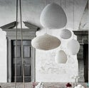 Suspension-lampion en tissu /  RICE BROWN