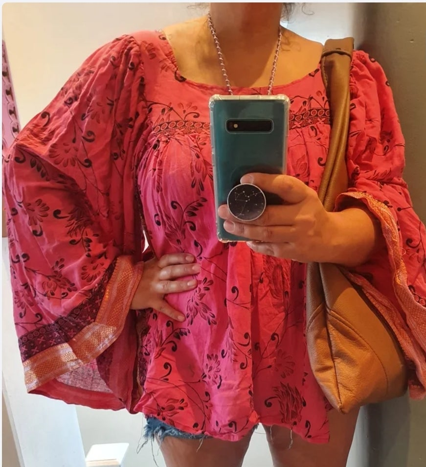 Image of Gypset cotton top hot pink