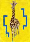 Foraging Giraffe – A4 Print