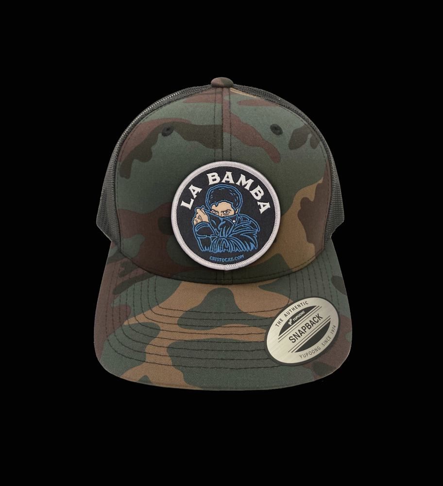 Image of LA BAMBA CAMO SNAP BACK CAP (FREE-SHIPPING ON THIS ITEM ONLY)