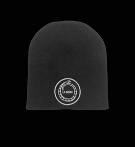 Image of LA ONDA BLACK BEANIE (FREE-SHIPPING ON THIS ITEM ONLY)