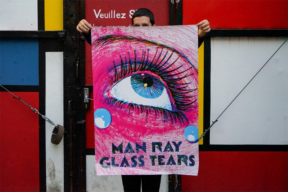 """Image of poster """"glass tears"""""""