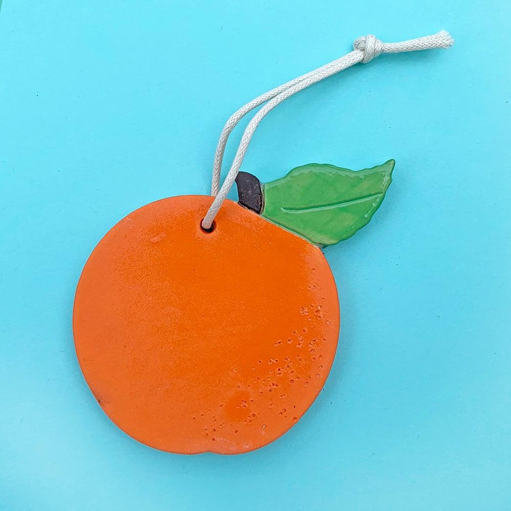 Image of Orange Ceramic Ornament