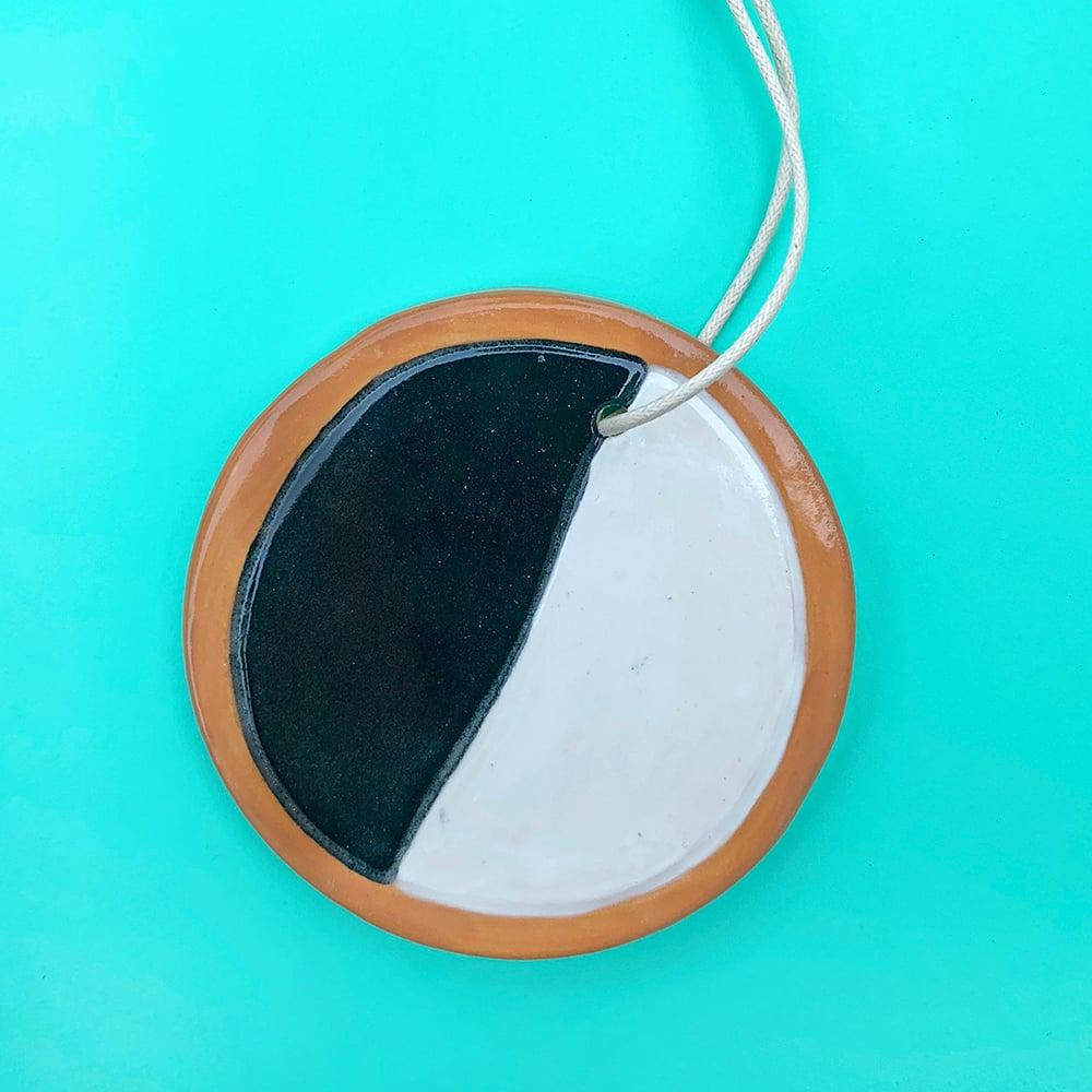 Black & White Cookie Ceramic Ornament