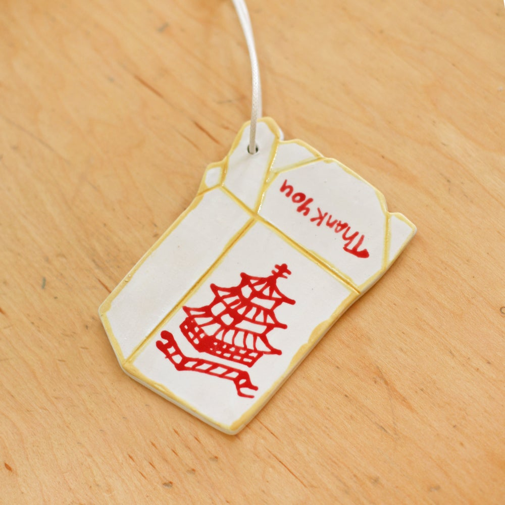 Image of Takeout Ceramic Ornament