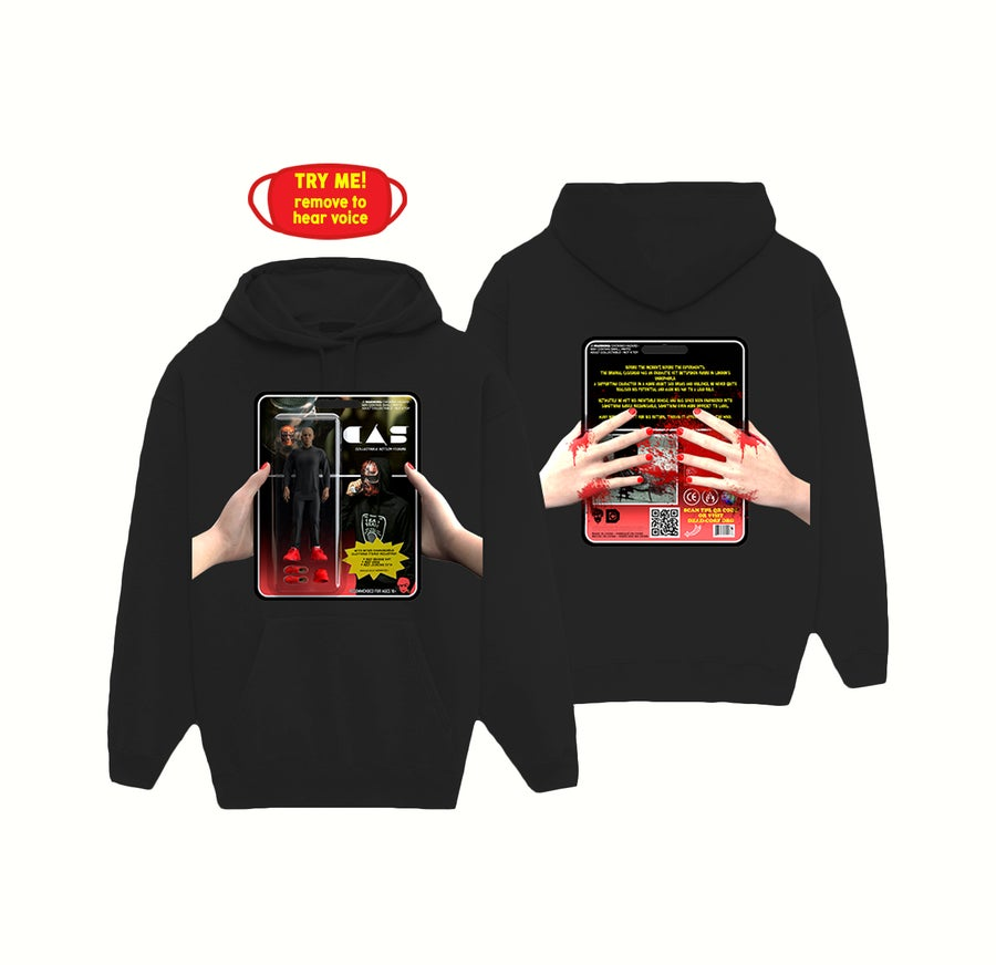 Image of ACTION FIGURE HOODIE + MASK [BLACK]