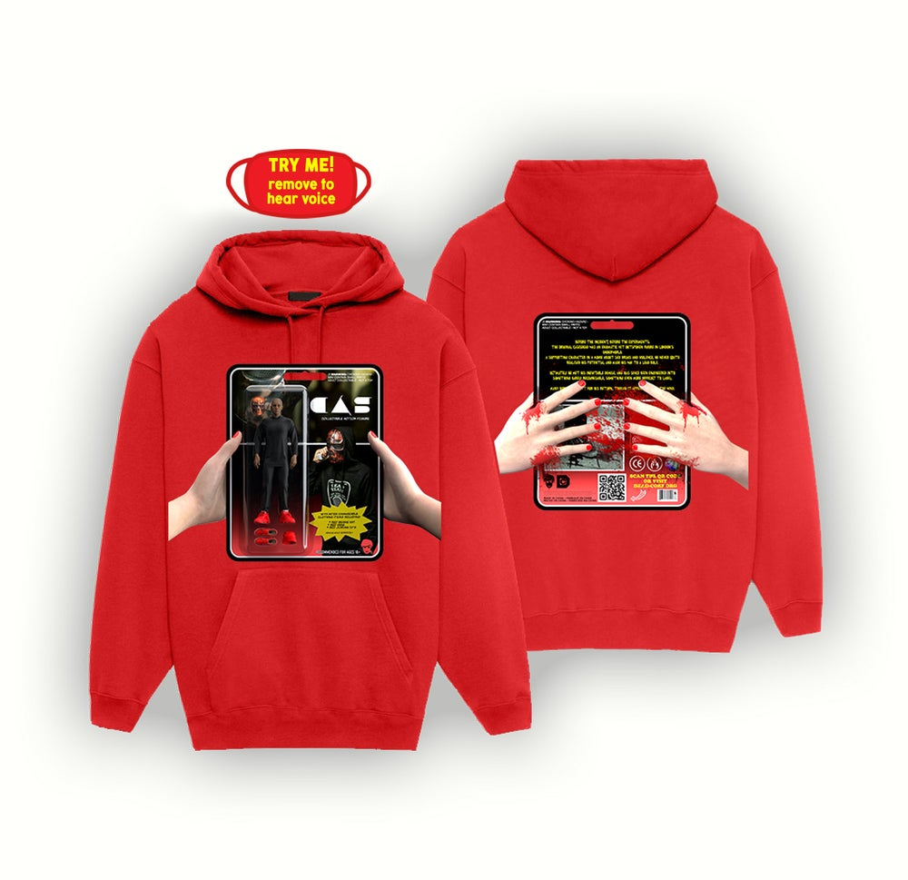 Image of ACTION FIGURE HOODIE + MASK [RED]