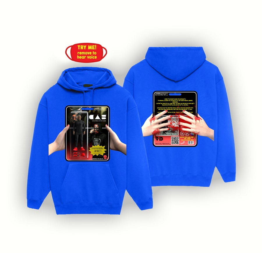 Image of ACTION FIGURE HOODIE + MASK [BLUE]