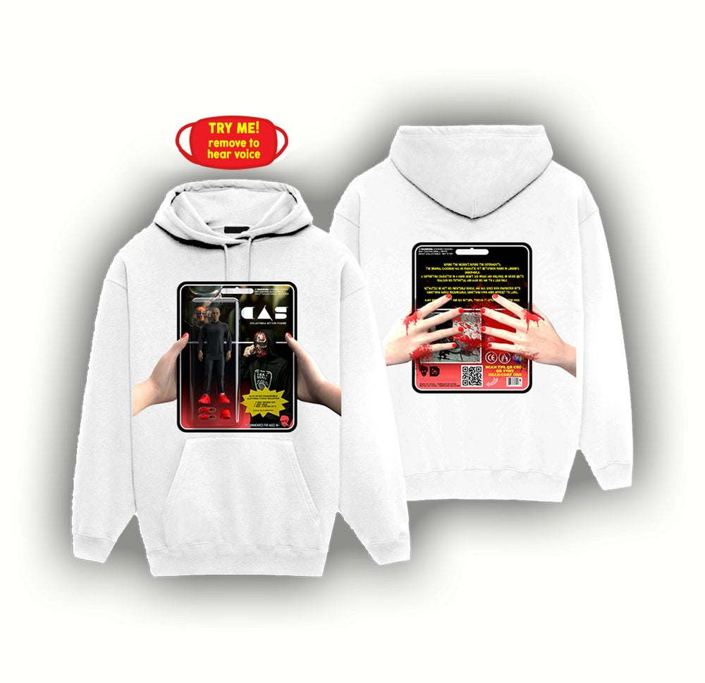 Image of ACTION FIGURE HOODIE + MASK [WHITE]