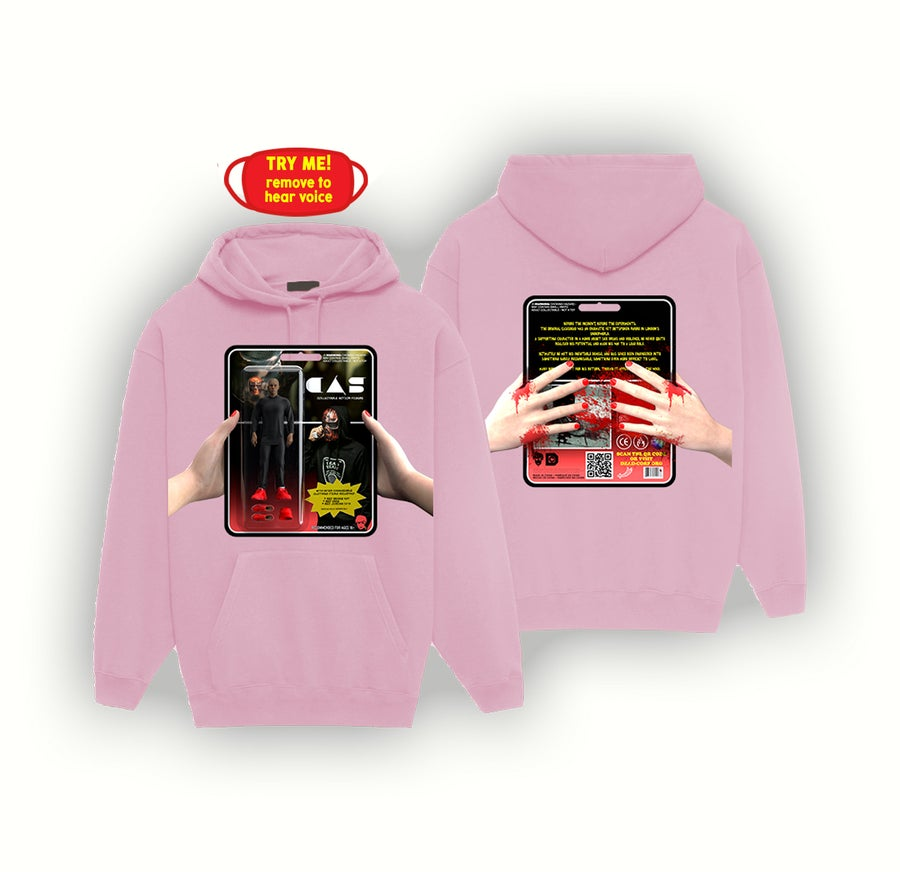 Image of ACTION FIGURE HOODIE + MASK [PINK]