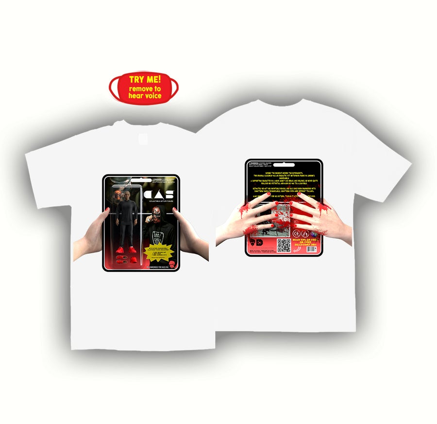 Image of ACTION FIGURE TEE + MASK [WHITE]