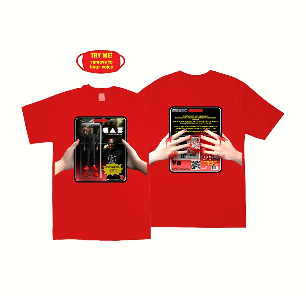 Image of ACTION FIGURE TEE + MASK [RED]