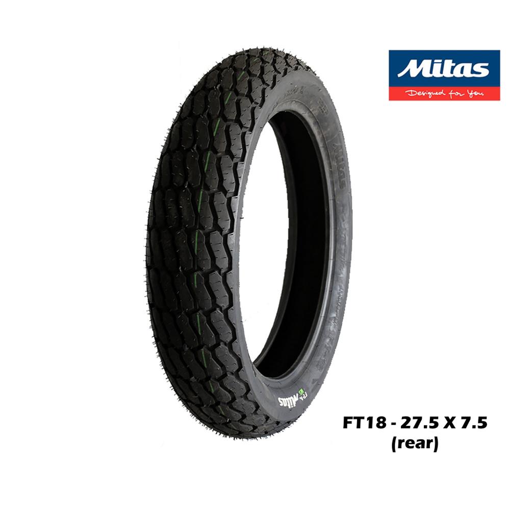 Image of MITAS FT18  flat track tyre (rear)