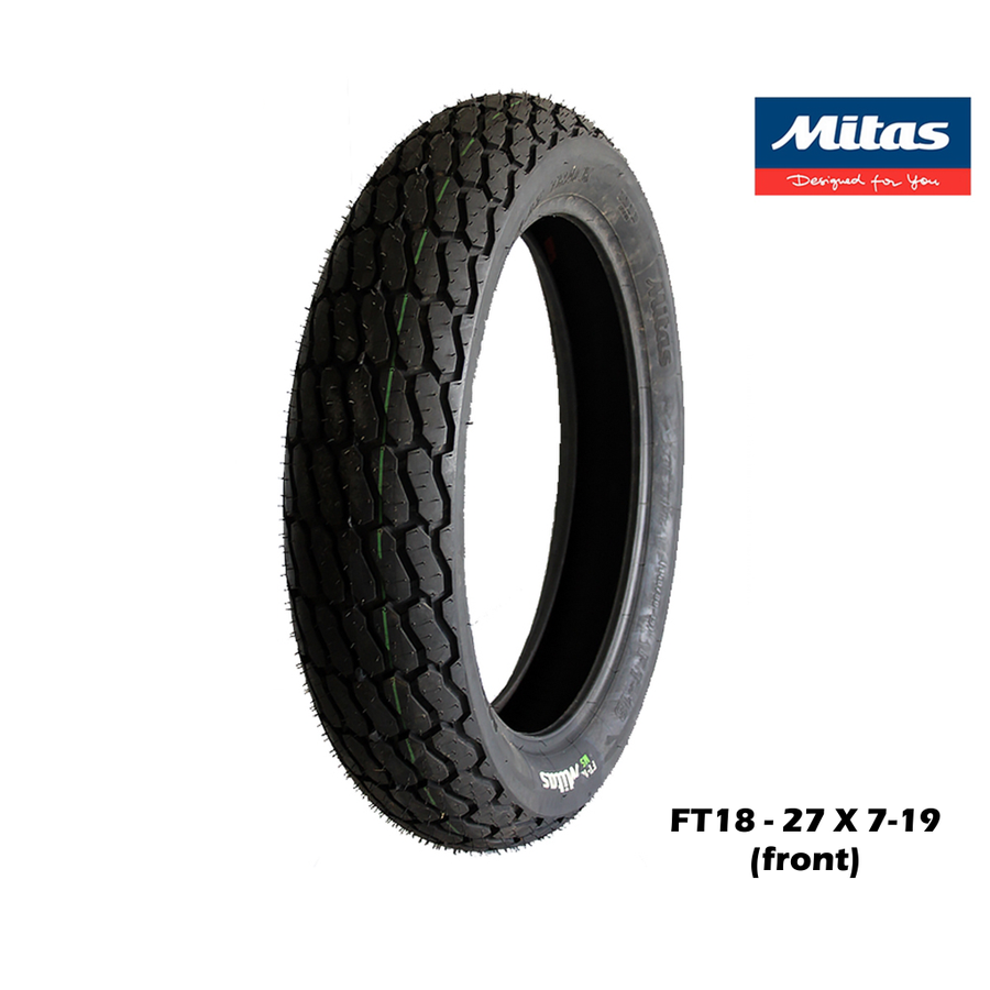 Image of MITAS FT18 flat track tyre (front)