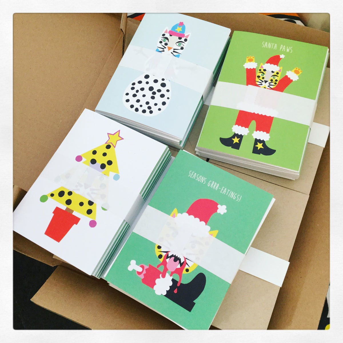 Image of Leopard Christmas Card Pack