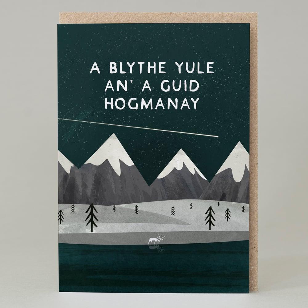 Image of A Blythe Yule an a Guid Hogmanay (Card)
