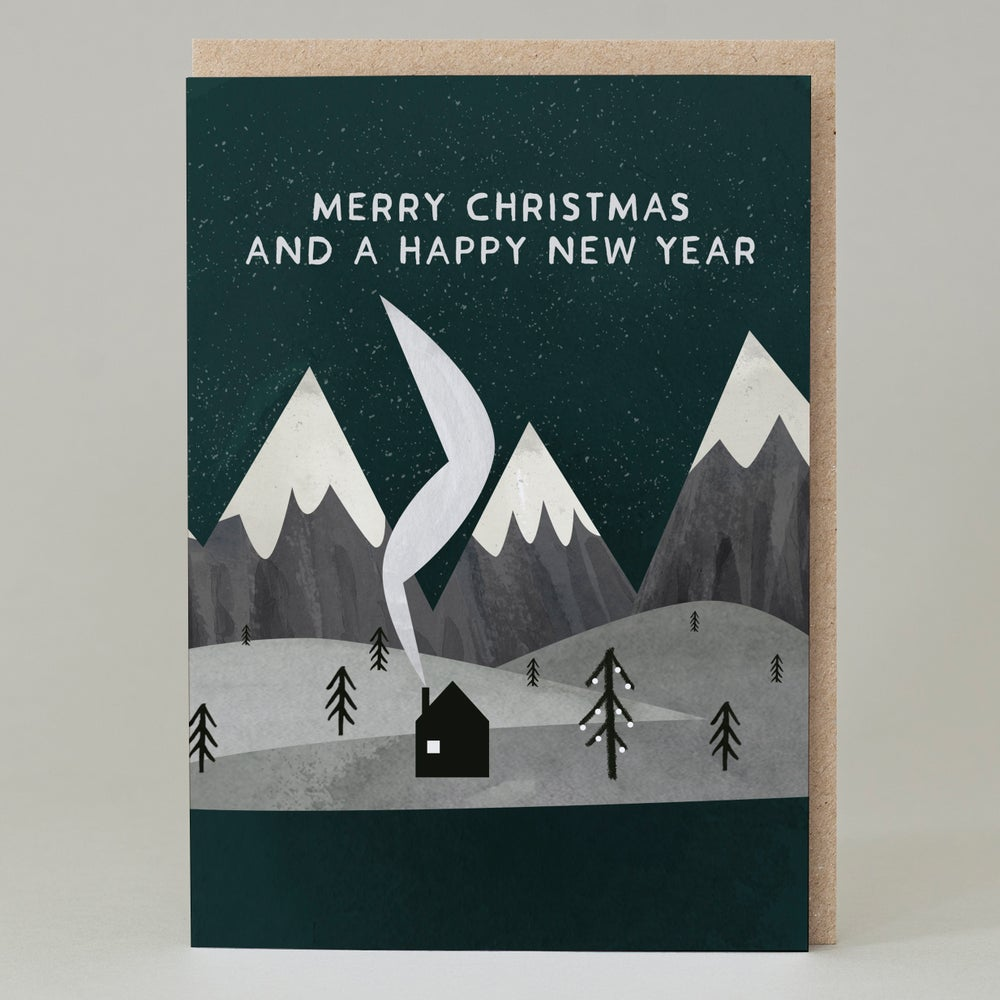 Image of Merry Christmas, mountains (Card)