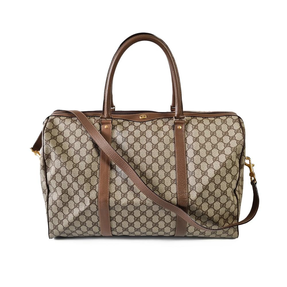 Image of Gucci Vintage Monogram Duffle Bag