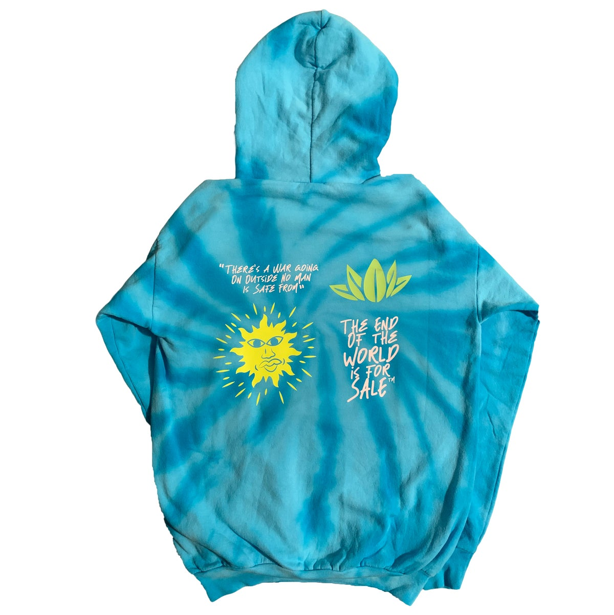 "Image of ""The War Outside"" Tye Dye Hoodie"