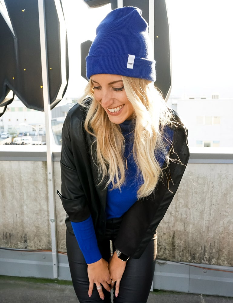 Image of Royal Blue Label Beanie