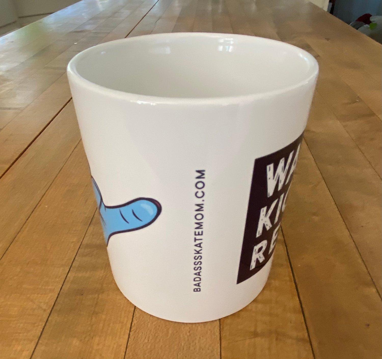 Image of Shaka Wake Up Kickass Repeat Coffee Mugs